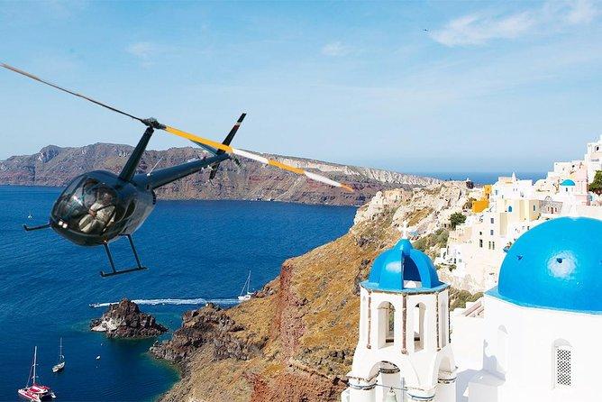 santorini helicopter ride